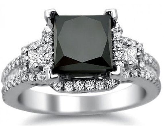 buy unique black engagement rings black