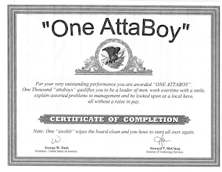 Sample Attaboy Letters