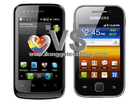 MyPhone A818 Duo vs. Samsung Galaxy Y: Specs Fight!