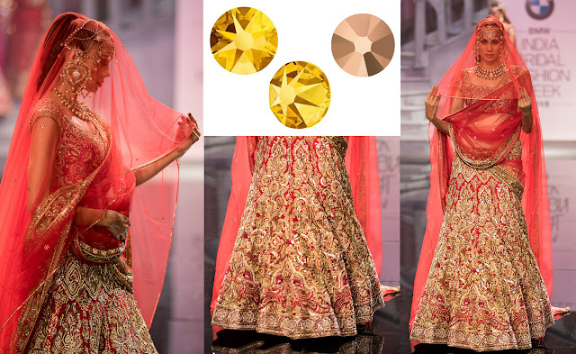Swarovski Crystal Rose Gold and Light Chrome Suneet Varma IBFW2015