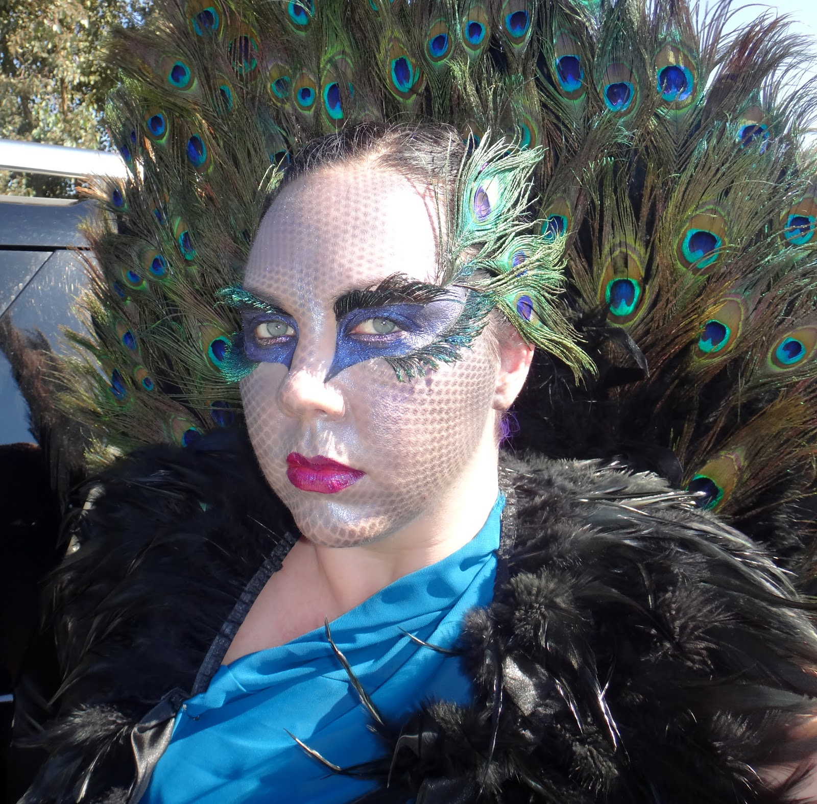 No Rules, Just Beauty!: Inspired: Fantasy Peacock Makeup ... Peacock Fantasy Makeup