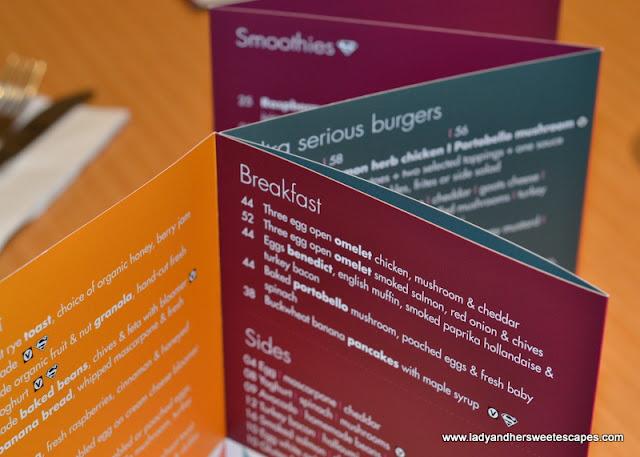 Ultra Brasserie's menu