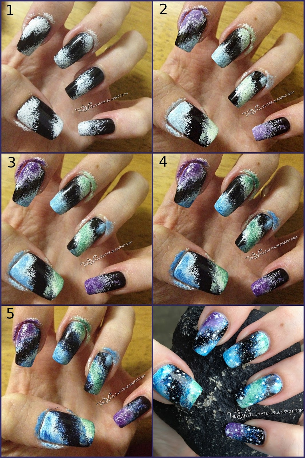 Nebula Nails Tutorial (Galaxy Nails) | The Nailinator