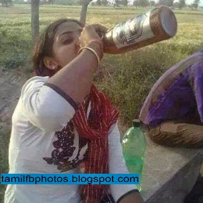 Facebook Photo Comment : Girl with Beer Bottle