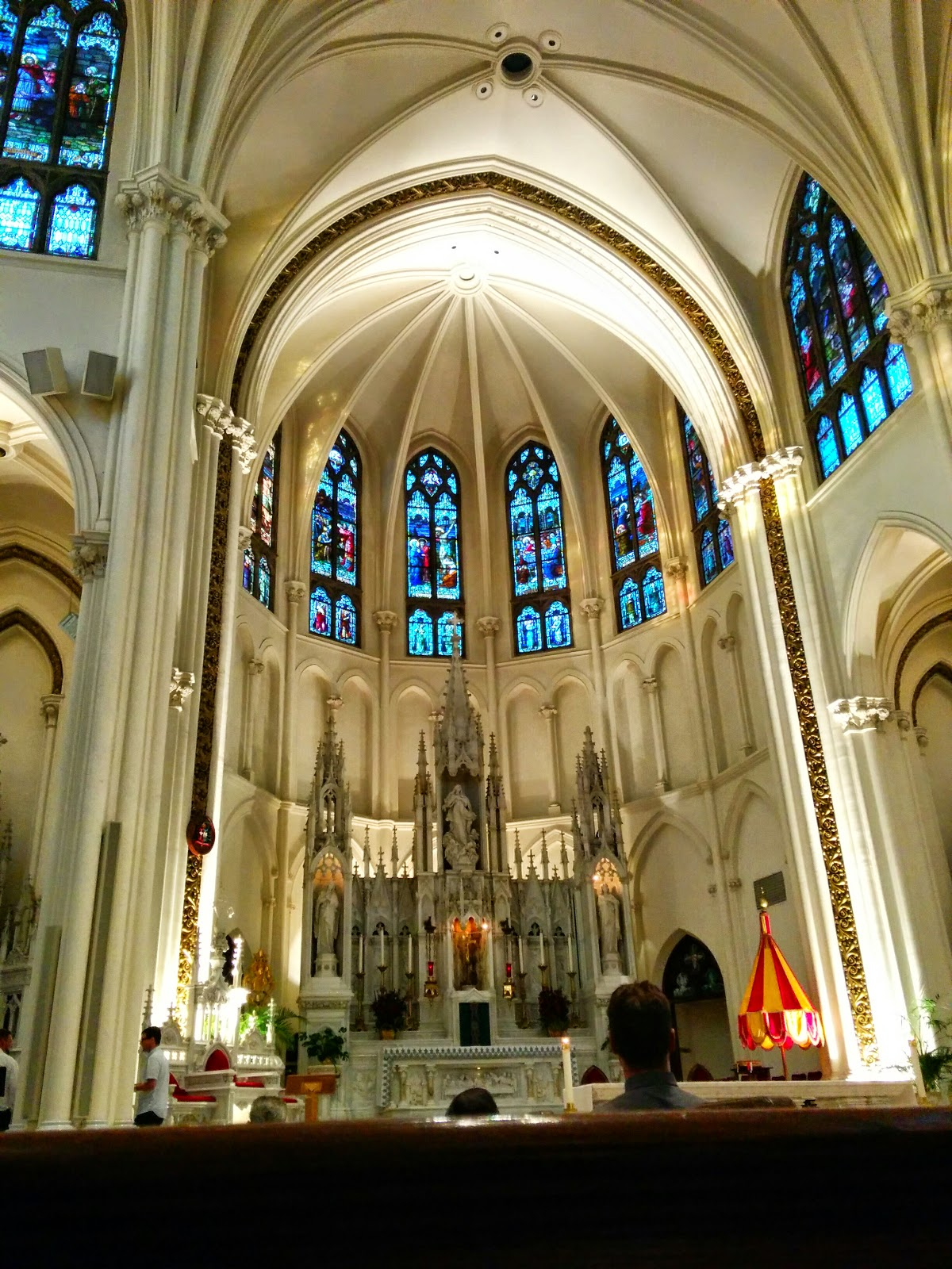 Beautiful cathedral church Basilica Denver