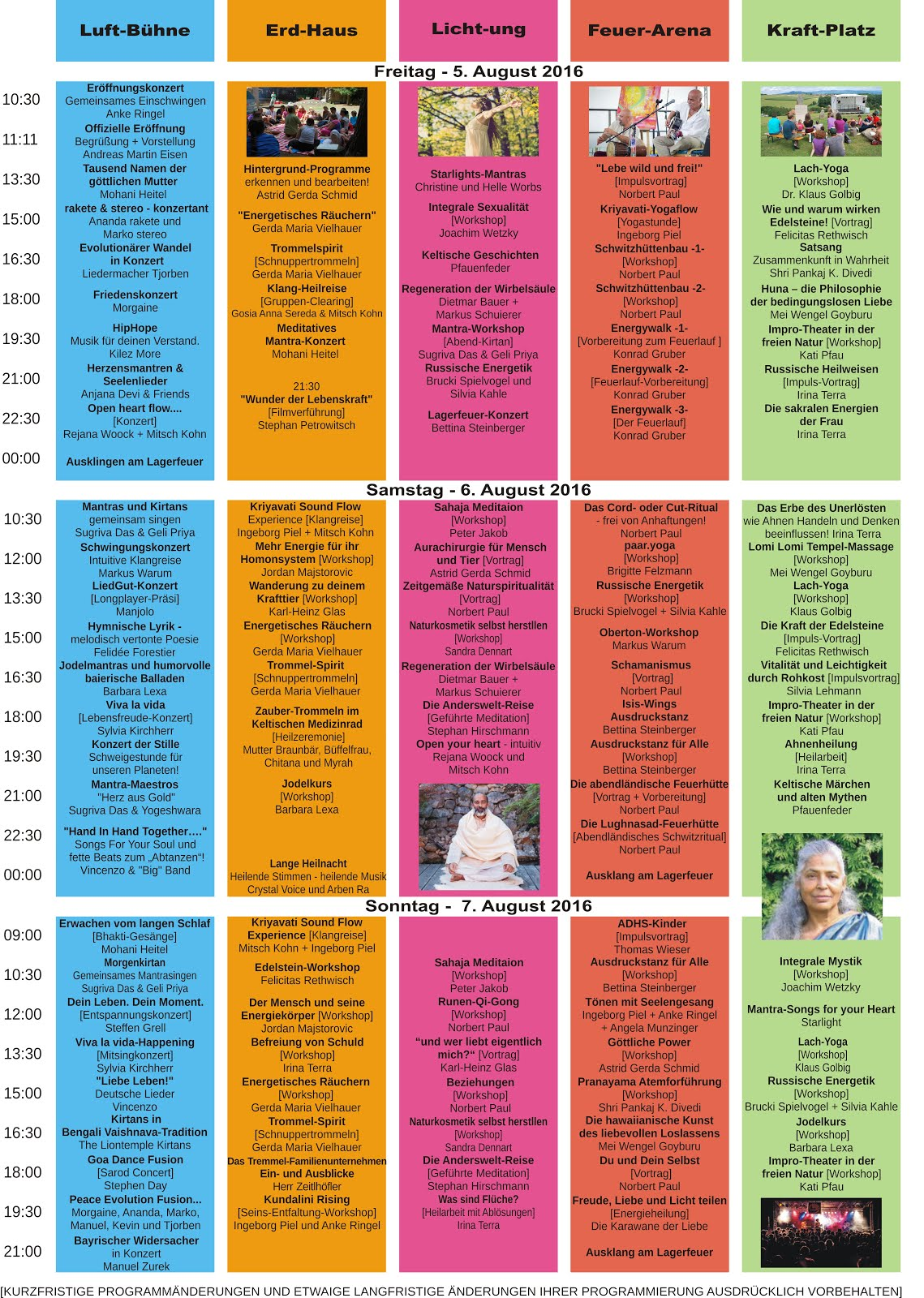 "WaldWelt-Festival 2016 - ""Kurz""-Programm"