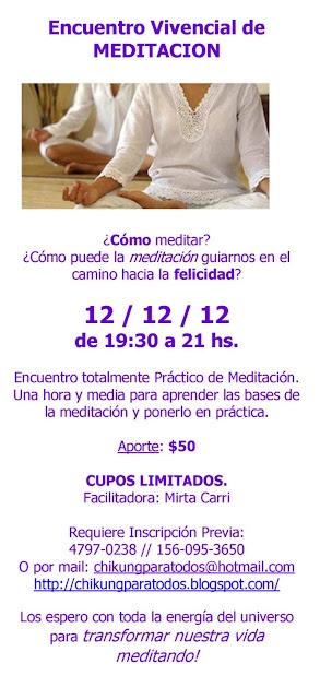 Encuentro Vivencial de Meditación 12/12/12 - Mirta Carri