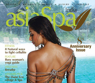 Actress Malaika Arora Khan asiaSpa coverpage still India