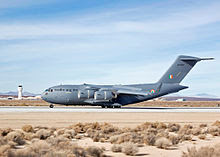 Newly acquired Boeing C-17 Globemaster III being tested at Edwards Air Force Base
