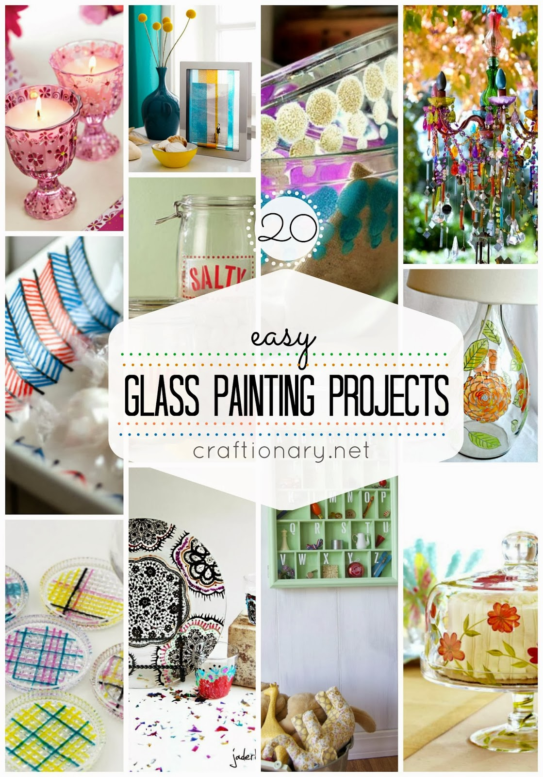 20 easy diy glass painting projects diy craft projects for Easy glass painting pictures