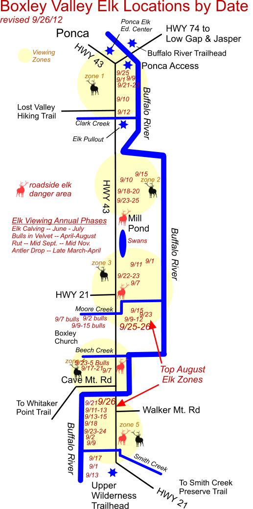 9/26/12 Elk Herd Location Map