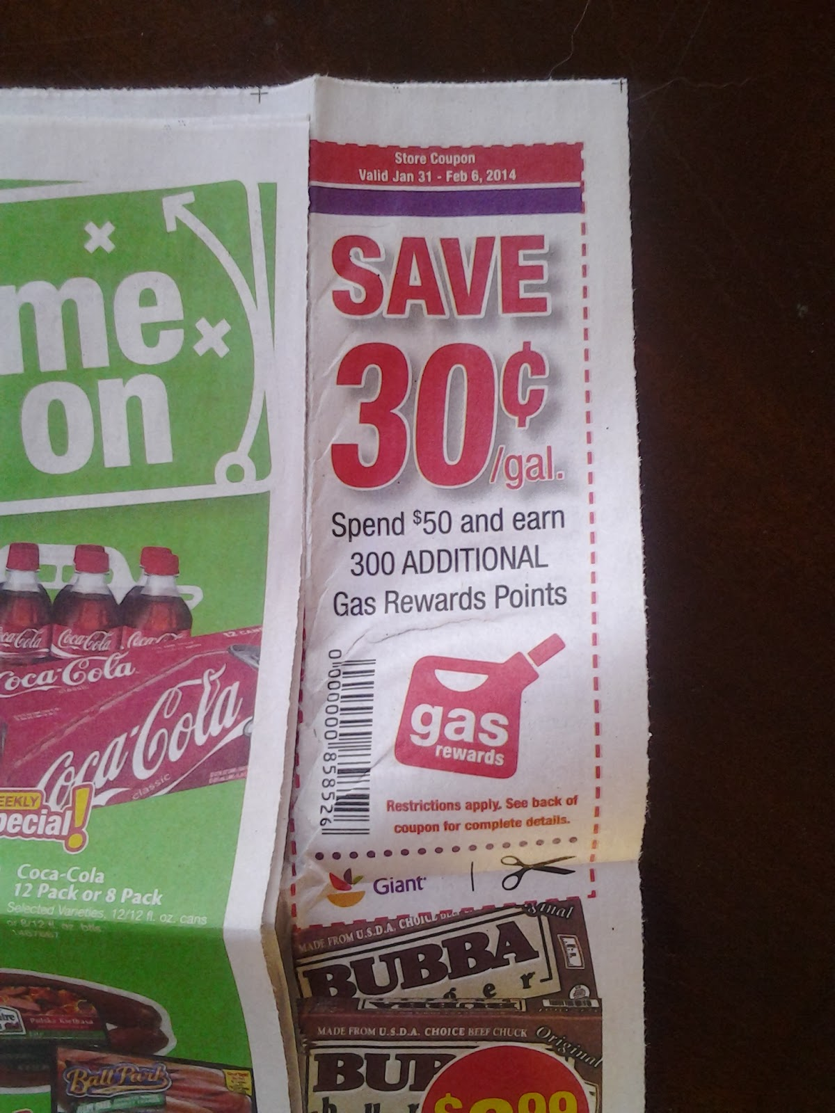 January 2014 loudoun county limbo another giant coupon for 30 cents off gas 1betcityfo Image collections