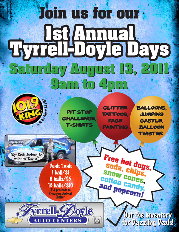 Welcome to tyrrell doyle honda join us for the 1st annual for Tyrrell doyle honda