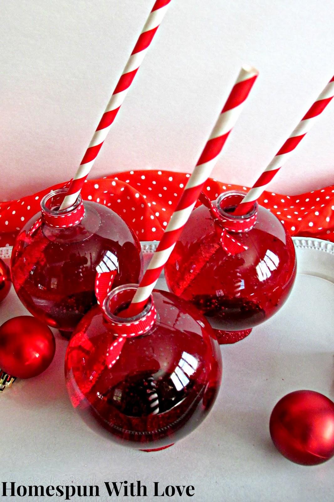 homespun with love festive ornament drink bauble. Black Bedroom Furniture Sets. Home Design Ideas