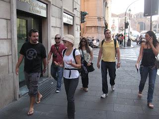 A morning walk through Rome.