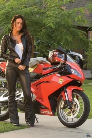 Hollywoodmegan Transformers Revenge Fallen Motorcycle Megan On Zombio Hollywood Fox 2 Wallpaper