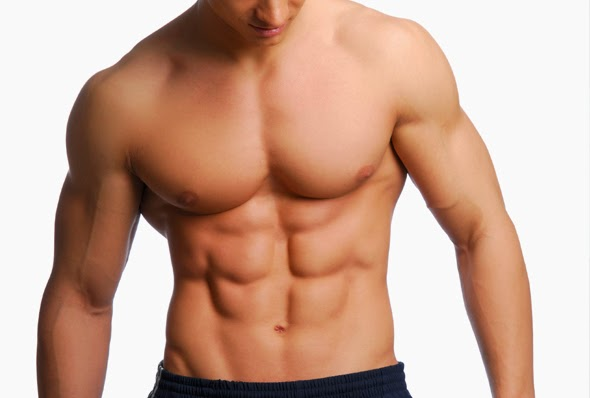 man six-pack abs