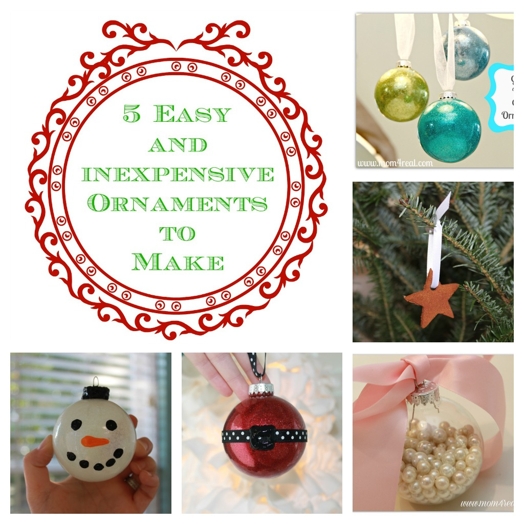 5 Easy To Make Homemade Christmas Ornaments Mom 4 Real