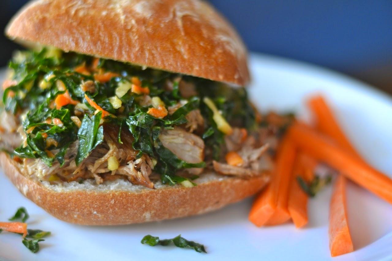 Asian Pork Sandwiches Recipe
