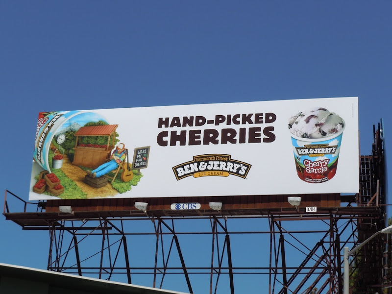 Ben and Jerry's Cherries billboard