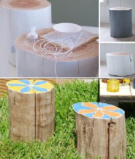 Mesas y sillas banquetas de tronco de arbol ecologicas for Mesas de troncos de arboles