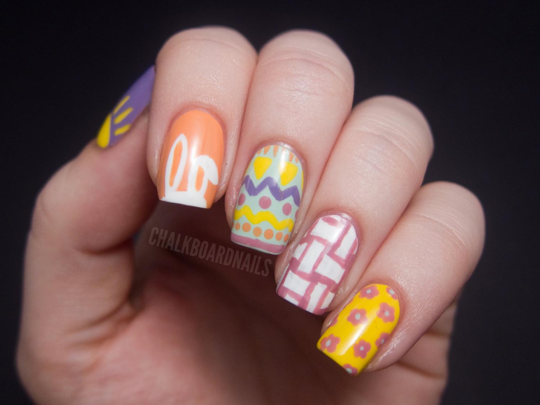 easter mix up chalkboard nails nail art blog