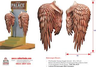 Pembuatan Sayap Angel 3D
