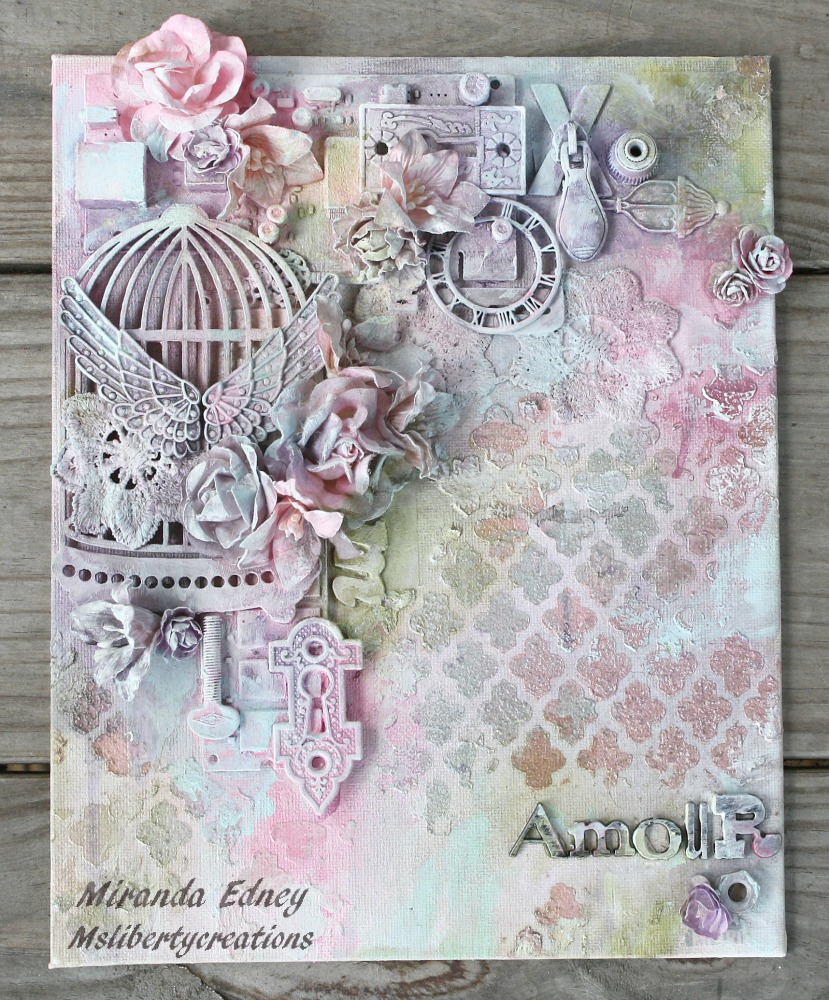 Msliberty creations shimmerz mixed media collage canvas for Mixed media canvas art ideas