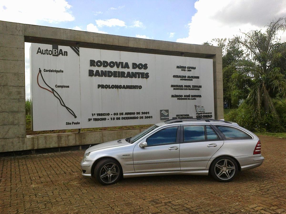 Mercedes vendida no Brasil.