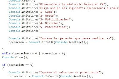 calculadora avanzada en C#