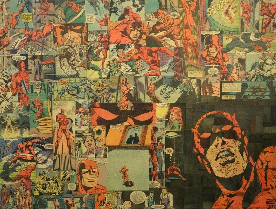24-Daredevil-Mike-Alcantara-Comic-Collage-Art-www-designstack-co