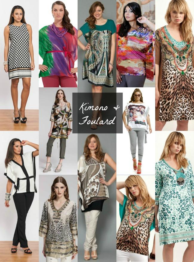 tendenza stampe foulard e kimono