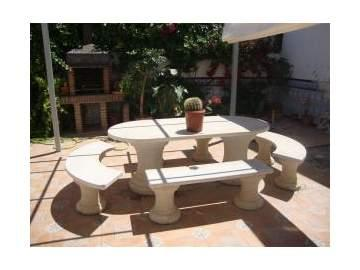 Decoracion actual de moda muebles de piedra para el jard n - Muebles de piedra ...