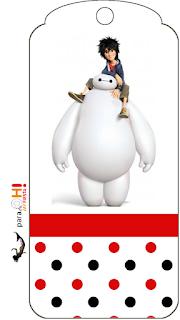 Marcapaginas para imprimir gratis de Big Hero 6.