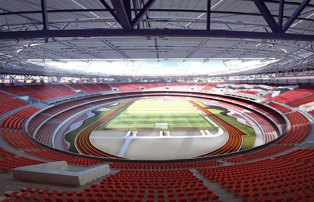 Foto modernização do estádio do Morumbi