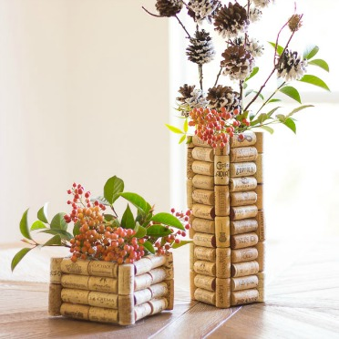 Save your wine corks for these vases!