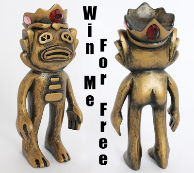 San Diego Comic-Con 2013 Exclusive Knights of the Rainbow Swampy Wooden Figure by Blamo Toys & Mikie Graham - Golden King