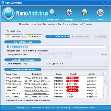 NANO AntiVirus 0.30.0.66195 Beta Free Download