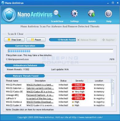 NANO AntiVirus 0.30.0.66195 Beta Free Download