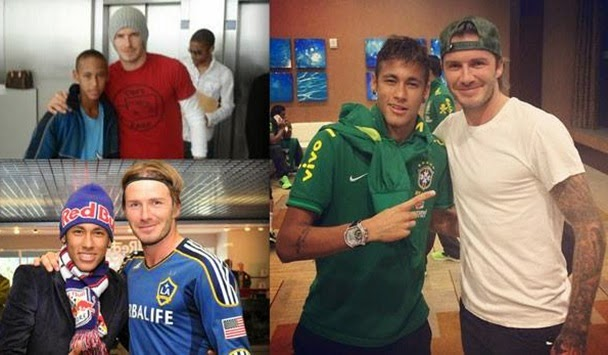 "David Beckham post picture with Neymar ""Get Well Soon"""