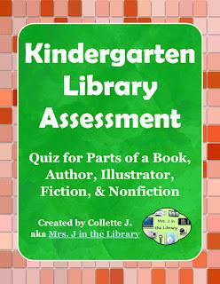 Kindergarten Library SLO Quiz