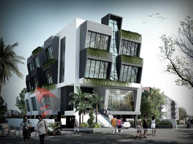 3D Architectural Photorealistic Hotel Design,3d Architectural design