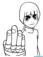 Rock Lee Printable Kids Coloring Pages