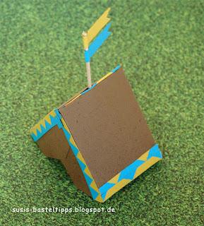 Pfandfinderzelt, Indianerzelt, Geschenkverpackung für Jungs, Umschlagstanze Briefumschlag von Stampin Up
