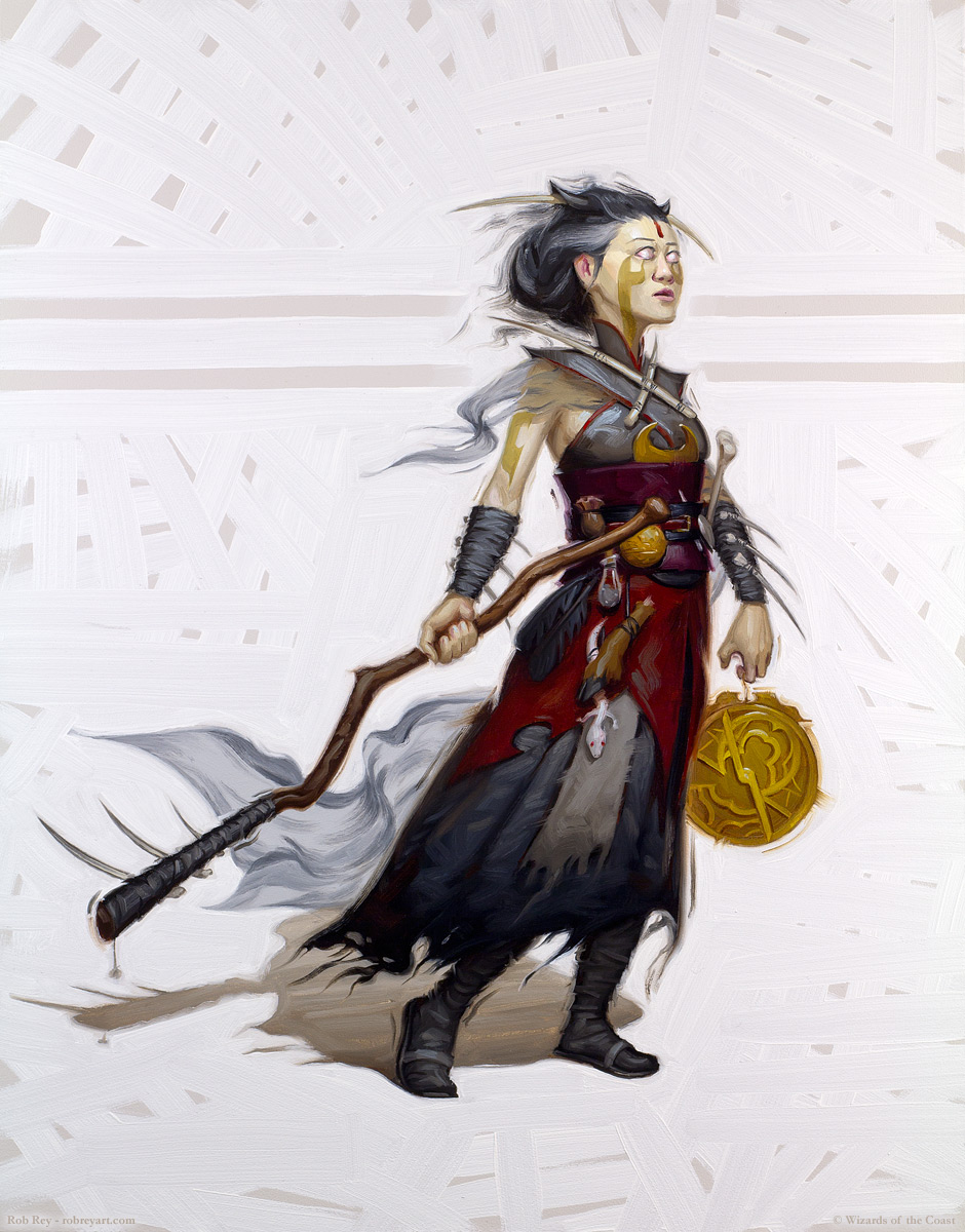 Human Witch by Rob Rey - robreyart.com - D&D 5th Edition Player's Handbook