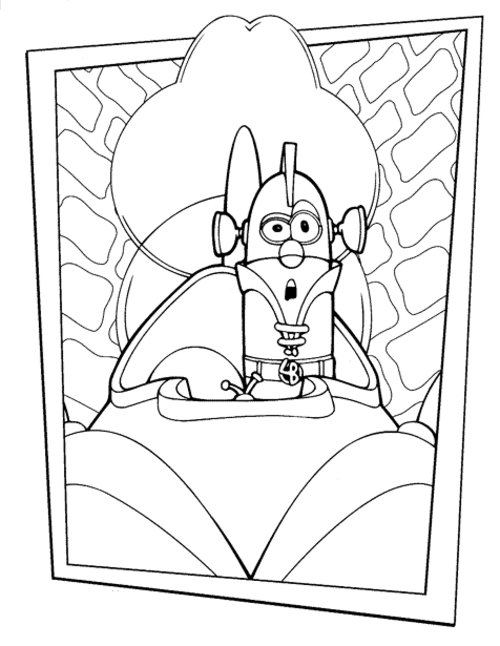 veggietales robin good coloring pages - photo#26