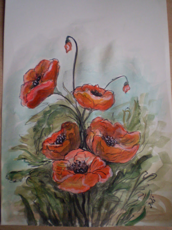Poppies PA6, watercolor, signed Joli, A4