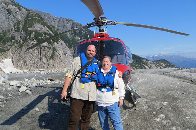 Bubba and Peg on Norris Glacier in Alaska