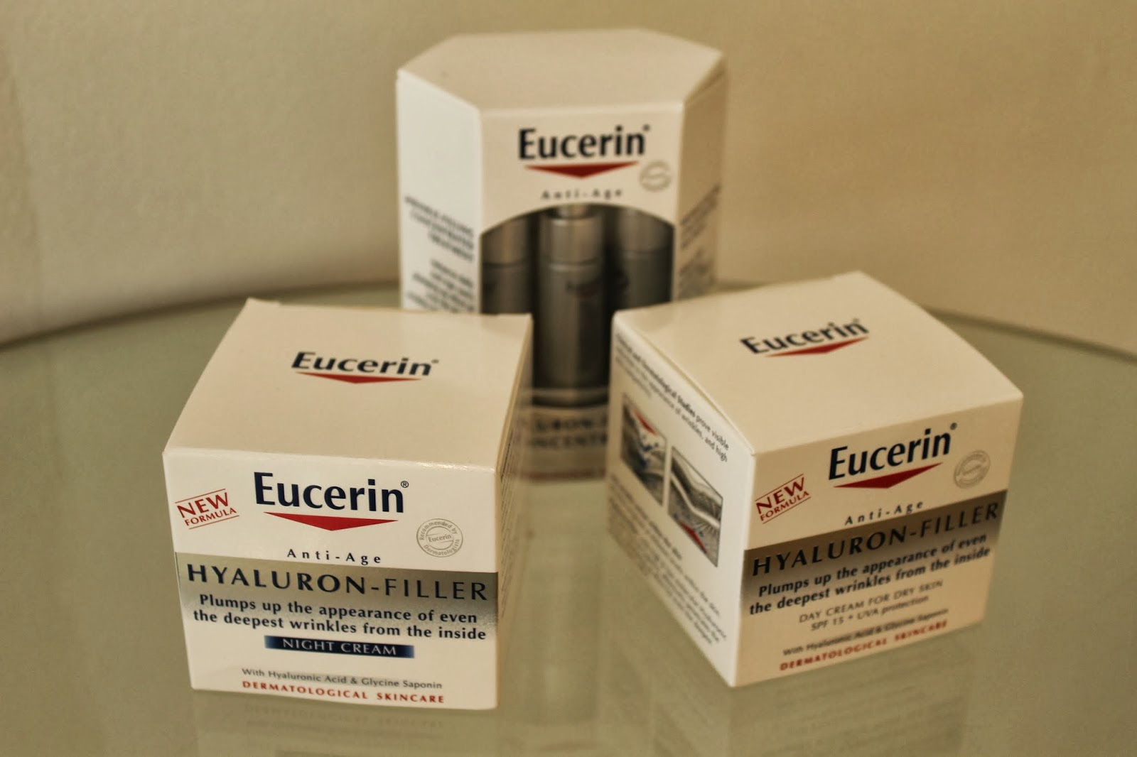 fiocco bianco  review  eucerin hyaluron filler products