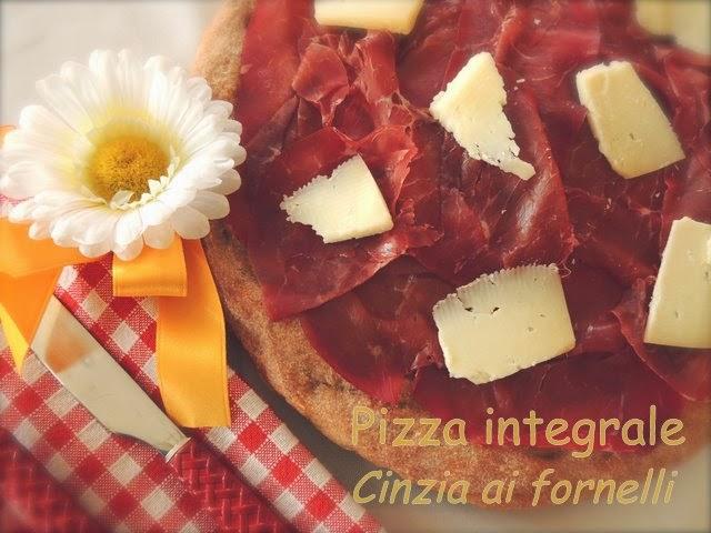 pizza integrale bresaola e pecorino